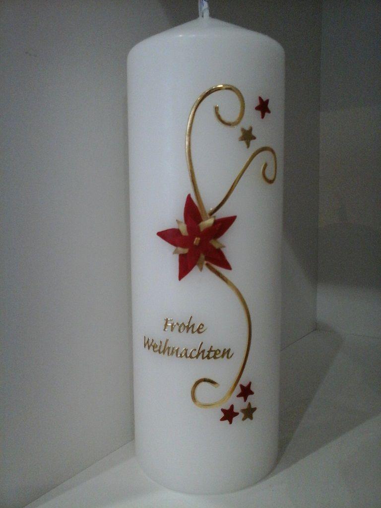 Weihnachtskerze 1 Weihnachtskerzen Kerzen Kerzen Basteln