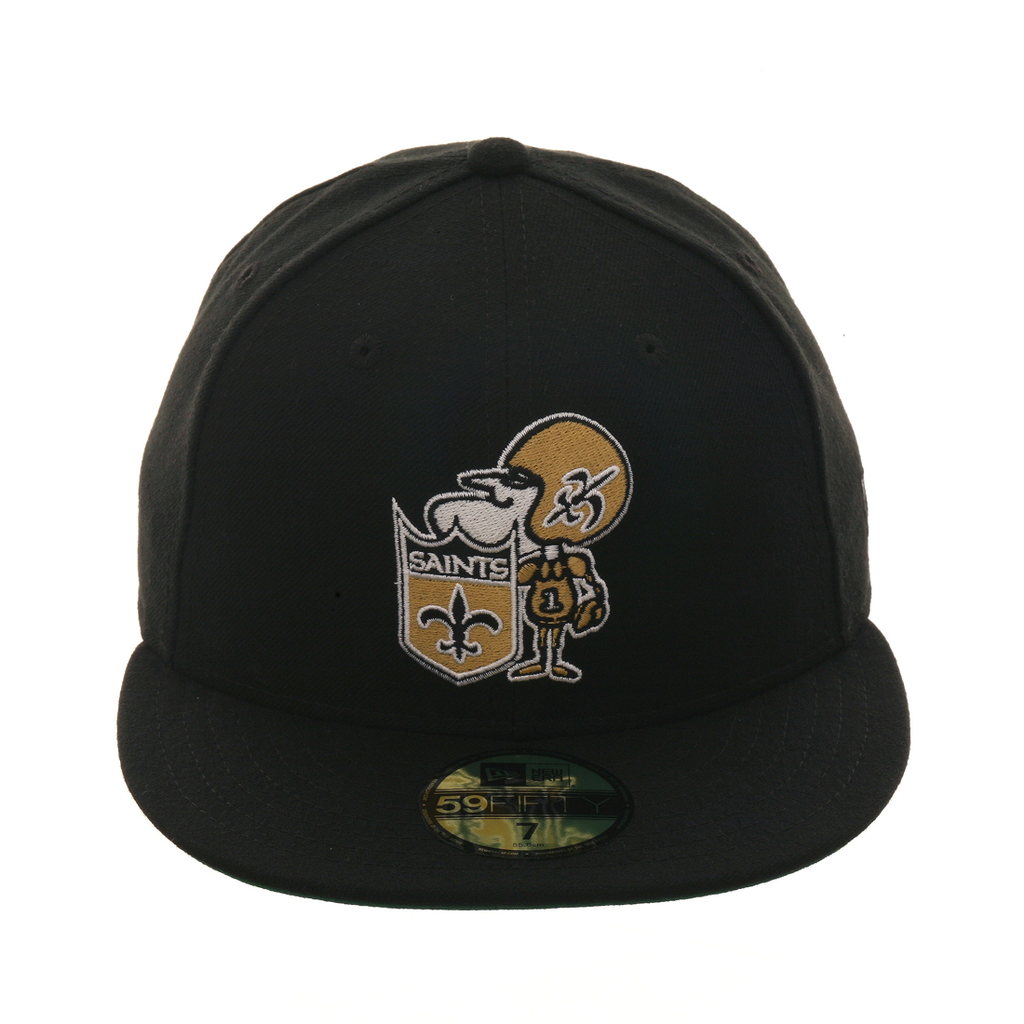 4068b51fc Exclusive New Era 59Fifty New Orleans Saints 1967 Hat - Black in ...