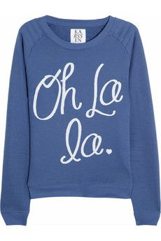 464c3153fb ZOE KARSSEN Oh La La cotton-blend jersey sweatshirt