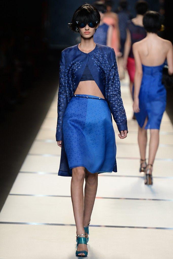 Fendi RTW Spring 2014 - Slideshow - Runway, Fashion Week, Reviews and Slideshows - WWD.com MILAN