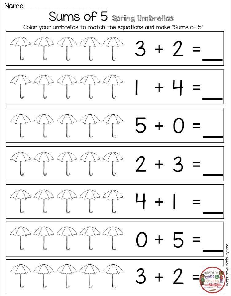 Printable Pre K Math Worksheets Www.robertdee.org
