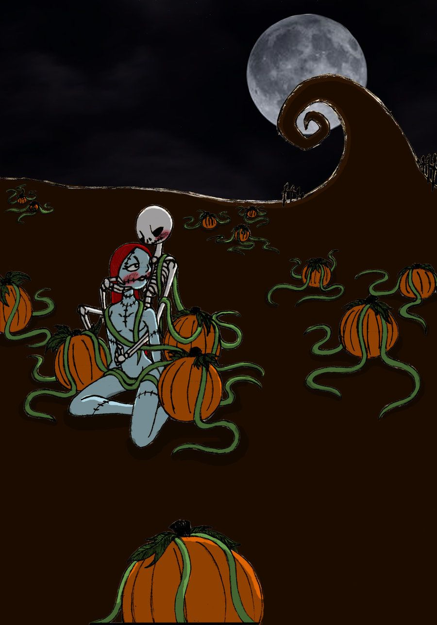 Jack and Sally in the Pumpkin patch Re-touched by *HollyBecker on ...