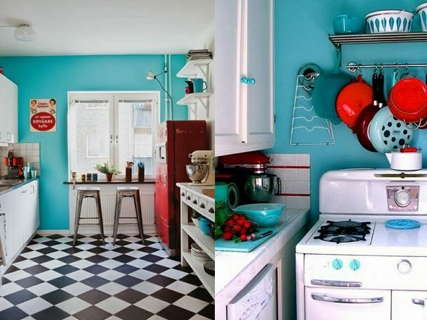 Vintage Kitchen. I love this floor | Kitchen | Pinterest | Anni 50 ...