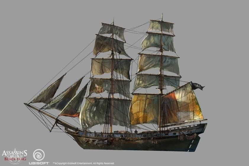 Credit To Ship Modeling Team And Whoever Involved In The Ship Design Referencing Christopher B Assassins Creed Black Flag Black Flag Assassins Creed Artwork