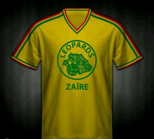 c00dd3941d1 Zaire away shirt for the 1974 World Cup Finals.