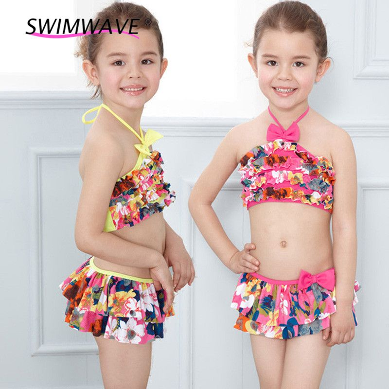 Kids Baby Girls Two Piece Swimwear Bikini Set Swimsuit Swimmers Bathers Clothes