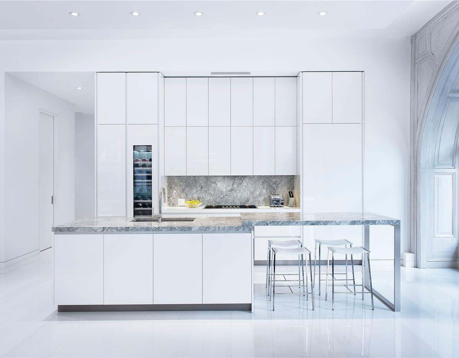 Wonderful Loft In New York City, USA   500+ White Modern Kitchen ...