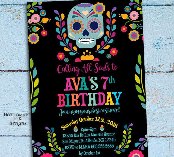 Day Of The Dead Invitation Dia De Los Muertos Invitation Etsy En 2021 Fiesta De Los Muertos Fiesta Dia De Muertos Fiesta De Coco