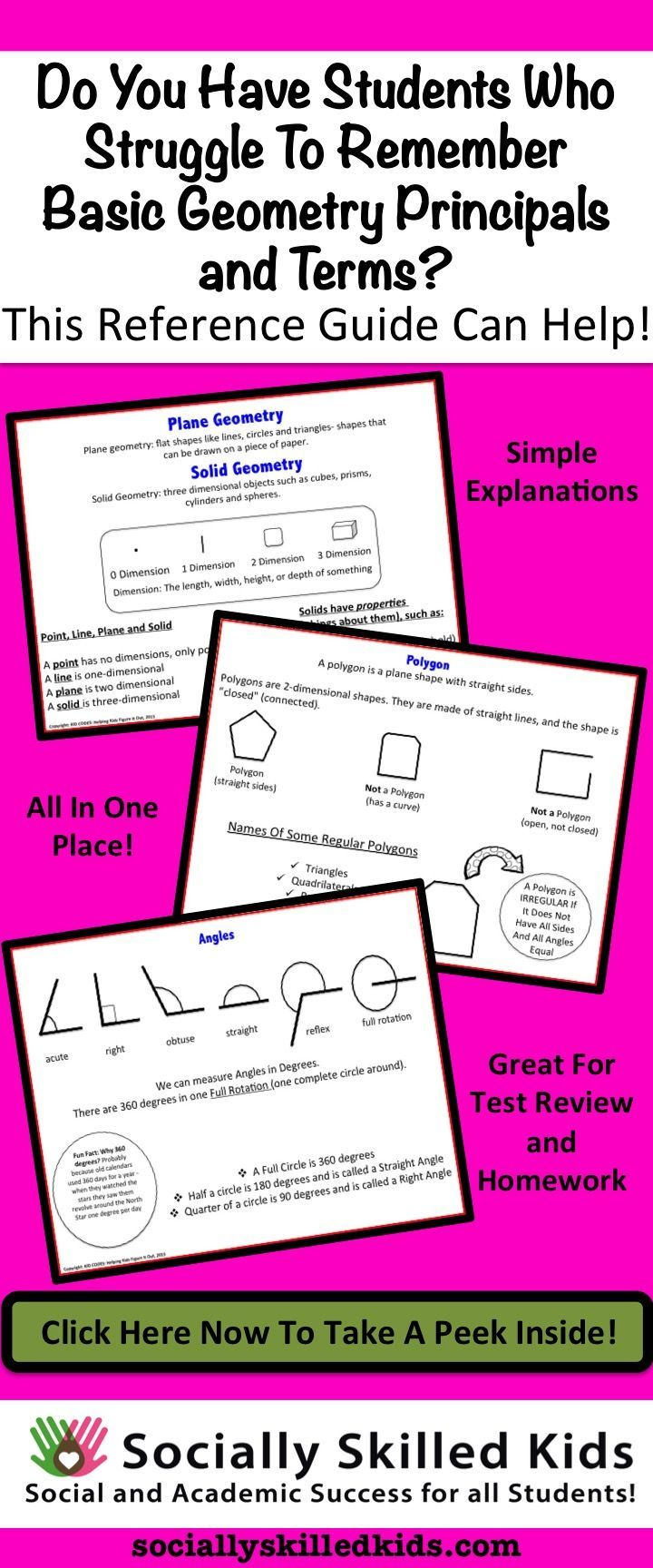 Special Education GEOMETRY {Basic Reference Guide} | Pinterest ...