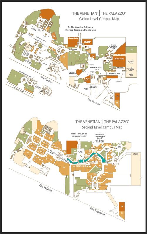 Venetian Las Vegas Map Palazzo and Venetian Map | Palazzo las vegas, Vegas maps, Campus map