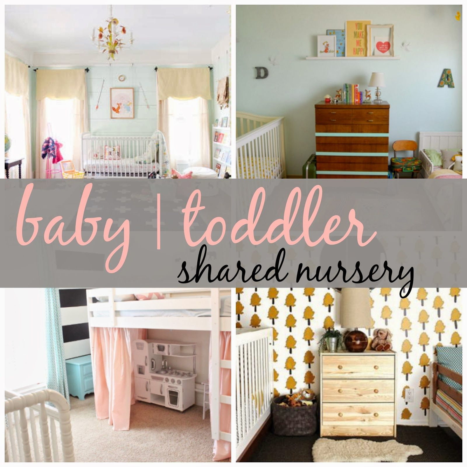 Bedroom design for boy and girl sharing - Joyful Life Shared Nursery Baby Toddler Rooms Baby Toddler Nurseryboy Girl