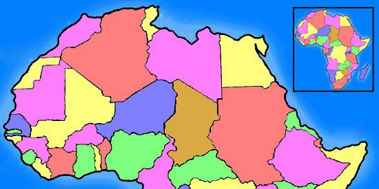 Learn: African Countries Map (by nate132)   Memorize.