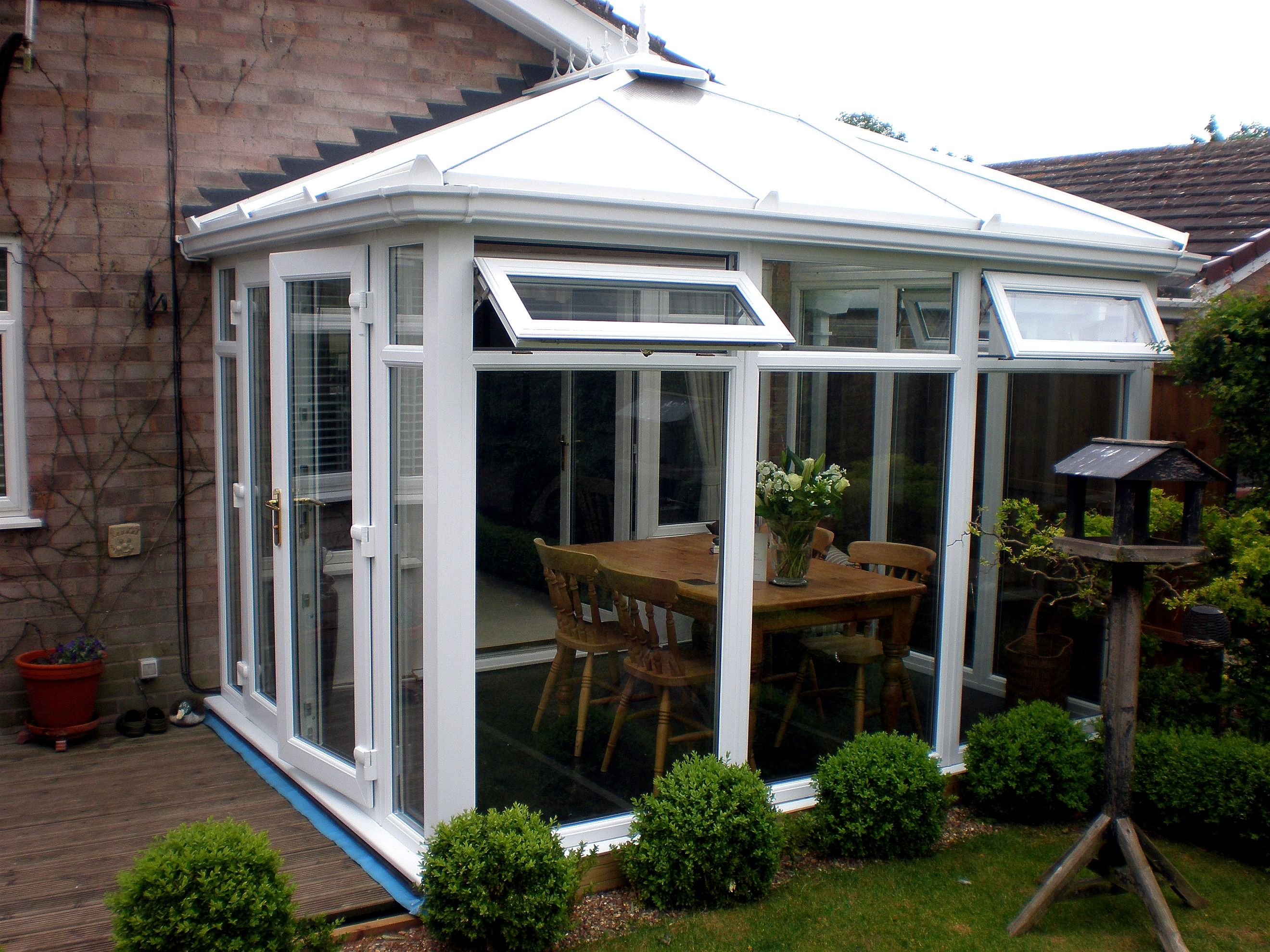 White PVCu DIY Edwardian Conservatory, Full-Height Glass Model. Manufactured and supplied by ConservatoryLand DIY Conservatories.