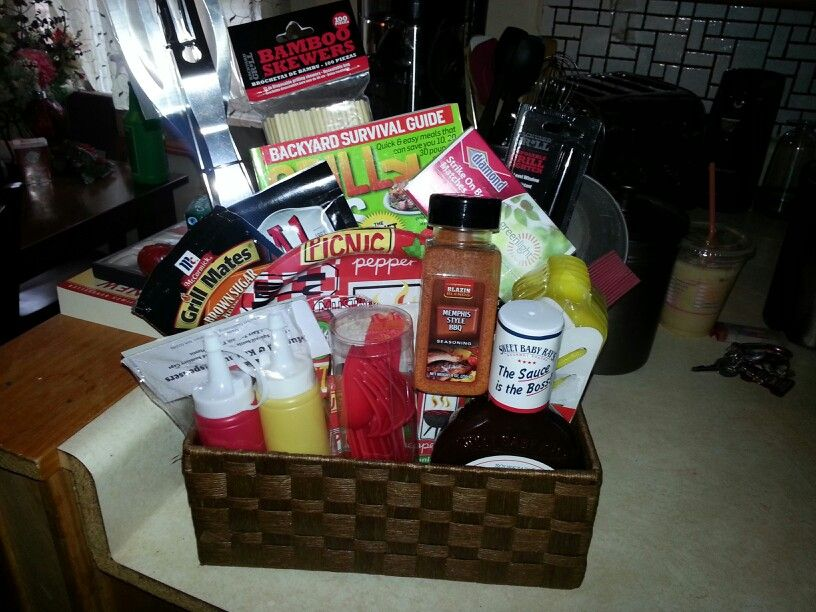 Jack And Jill Wedding Shower Ideas: Grill Basket I Made For Our Jack N Jill Party