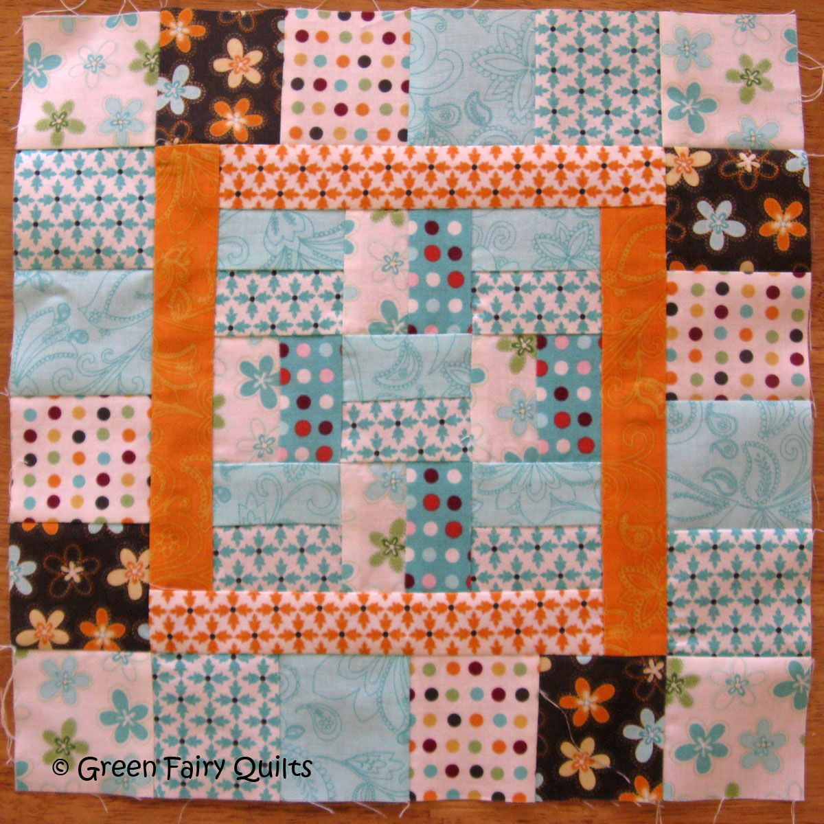 Moose on the Porch Quilts: Block Eight with the Green Fairy