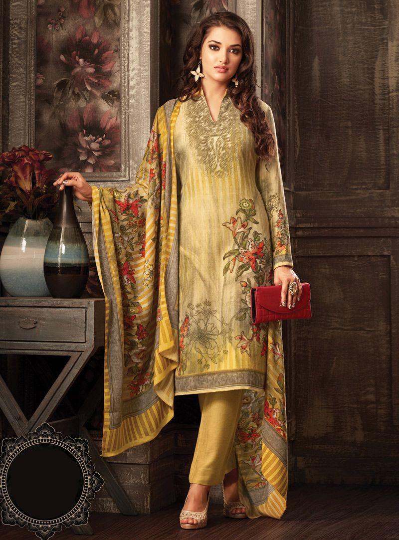 4db67fd872 Golden Pashmina Straight Cut Pant Style Suit 102887 | Pant Style ...