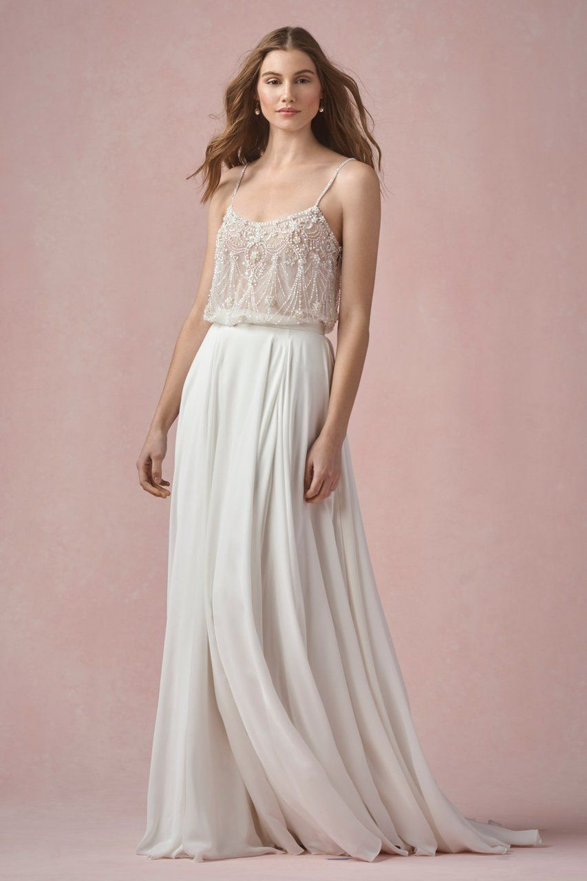 Willowby wedding pearl tank unlined in that one day
