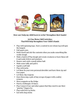 Tips For Strengthening Hands Pinterest Parents, Therapy and