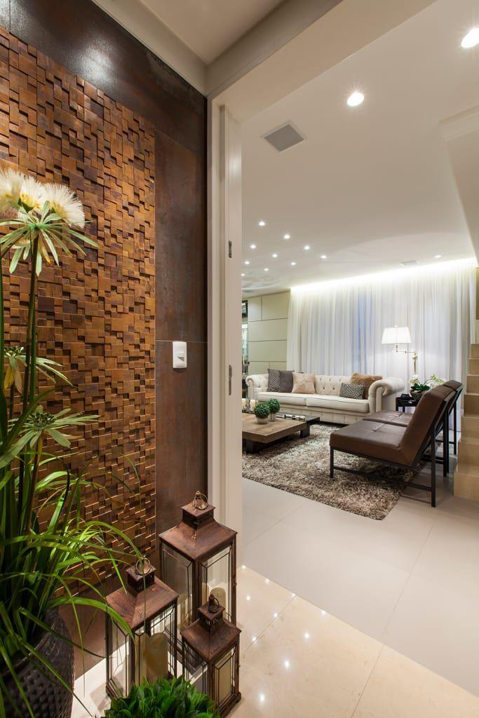 Apartamento ecb corredores e halls de entrada por thiago mondini arquitetura em 2019 Casa  # Decoração De Hall Com Escada