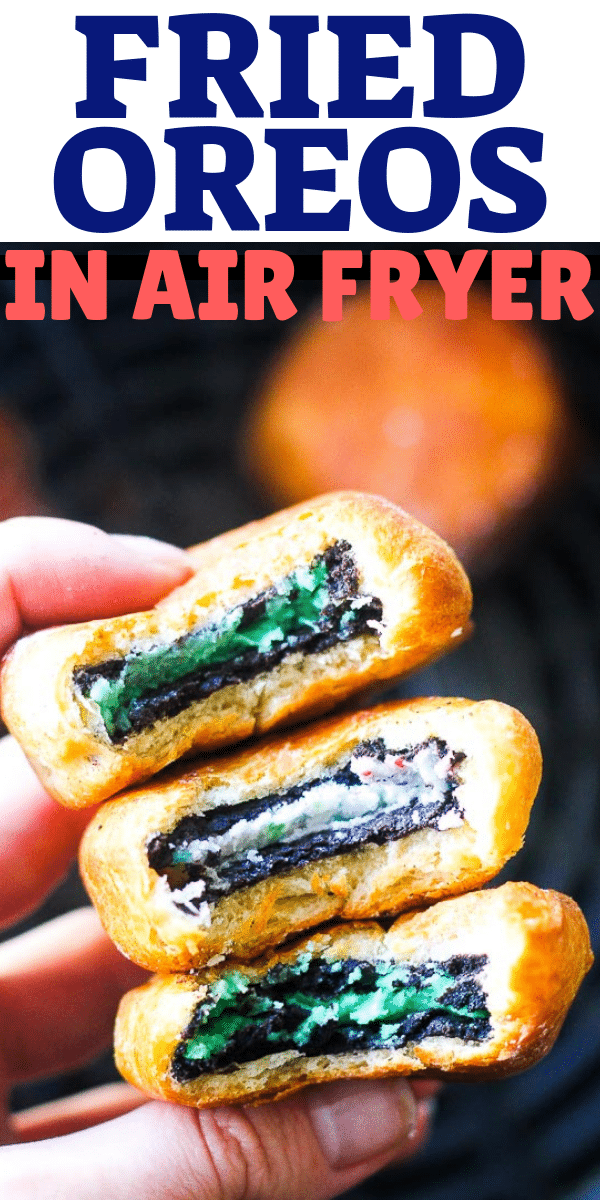 Air fryer fried OREOS! Easy dessert recipe that is great for even beginners. Fried oreo cookies are the best for parties and for you kids, simple and quick! Not really healthy but so sweet and crunchy.