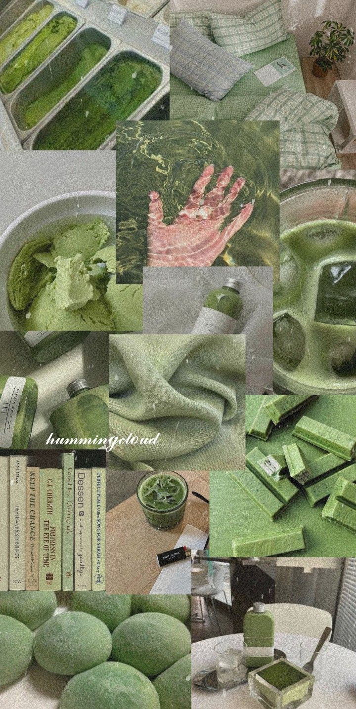 ☁ Green aesthetic wallpaper