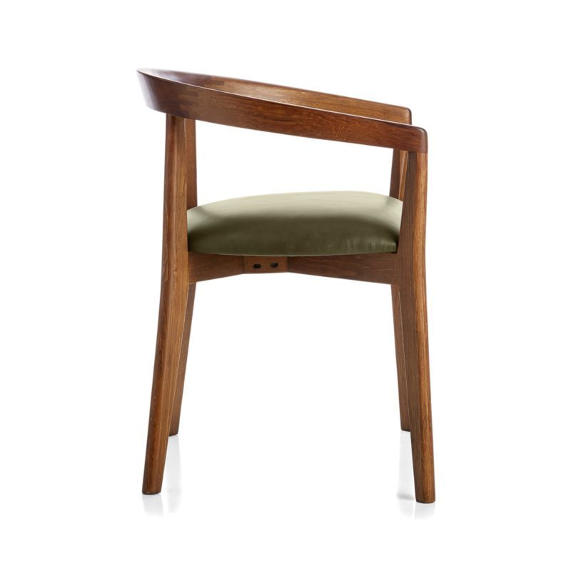 Cullen Dark Stain Olive Round Back Dining Chair Crate And Barrel In 2020 Round Back Dining Chairs Dining Chairs Staining Furniture