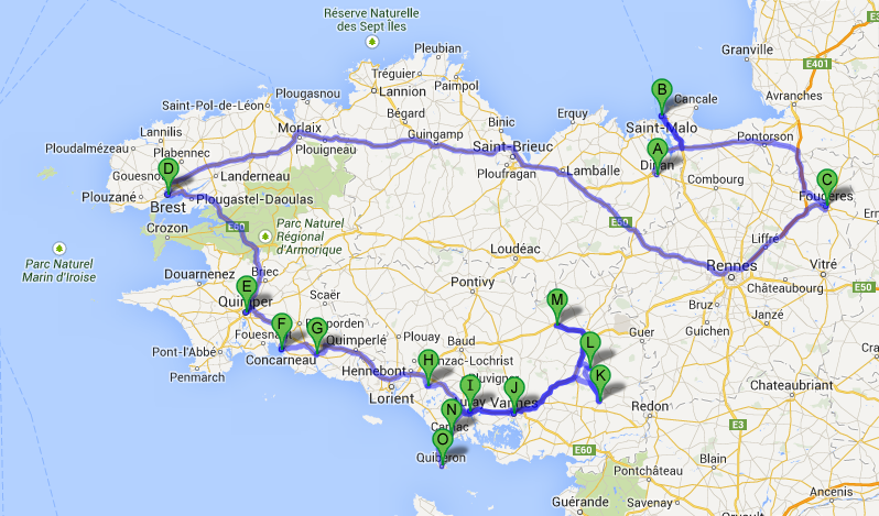 Bretaña Y Normandia Mapa.Mapa De Bretana Y Normandia Buscar Con Google En 2019