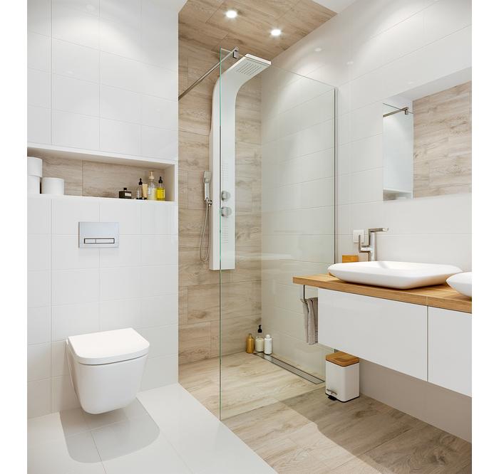 Drewno W Lazience Leroy Merlin Top Bathroom Design Bathroom Design Small Bathroom Layout