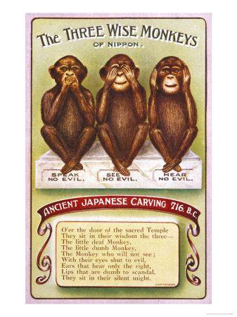 The Three Wise Monkeys Speak No Evil See No Evil Hear No Evil Three Wise Monkeys Wise Monkeys Evil