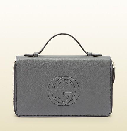 soho leather travel document case