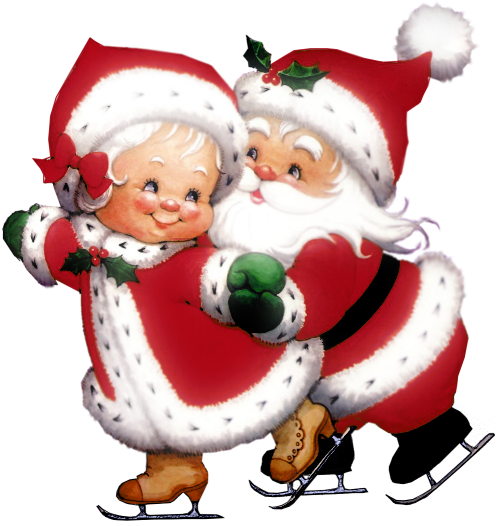 Image result for mr. and mrs claus clipart