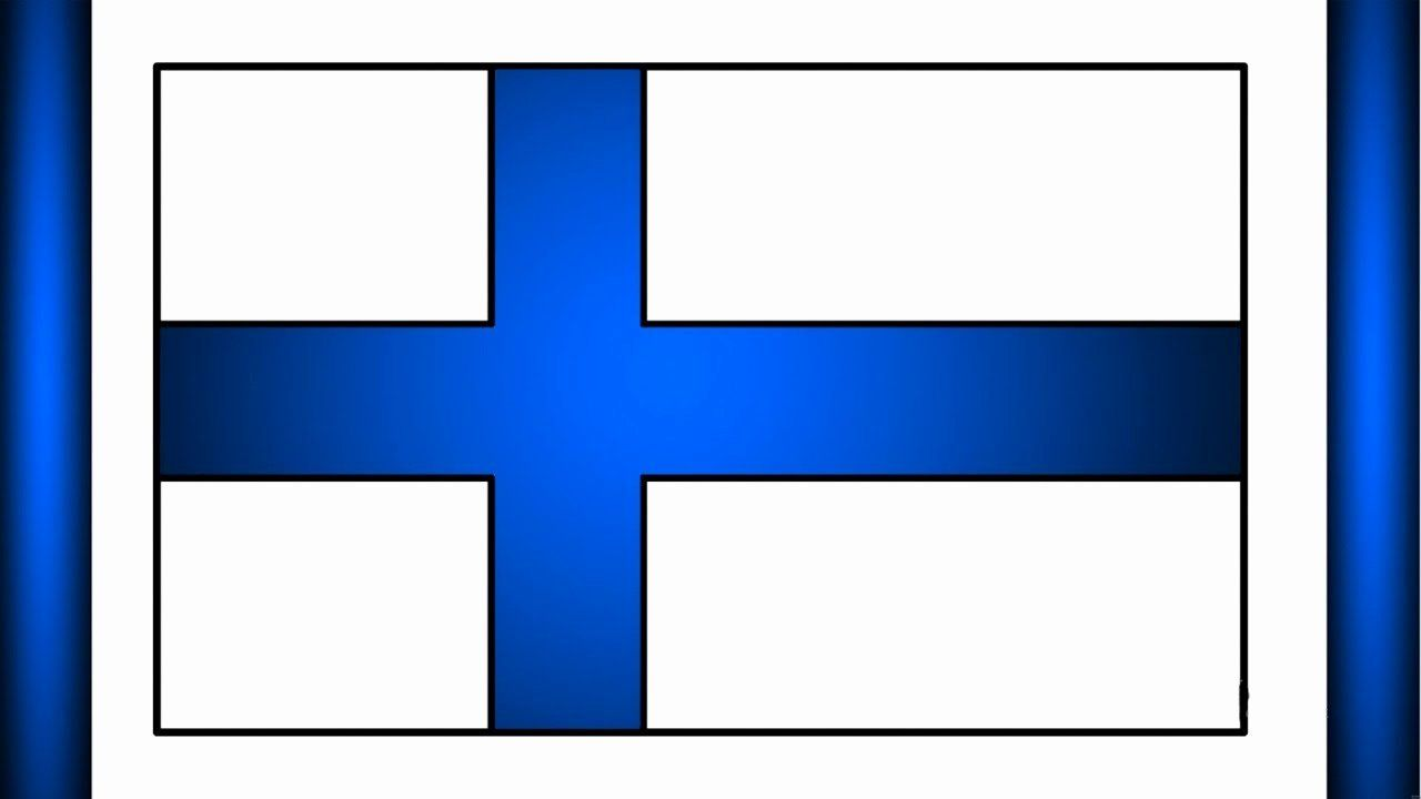 Finland Flag Coloring Page Unique Finland Flag Drawing How To Draw National Flag Of Finland Flag Coloring Pages Finland Flag Coloring Pages