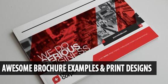 25 Awesome Brochure Examples And Print Designs Brochure Flyer