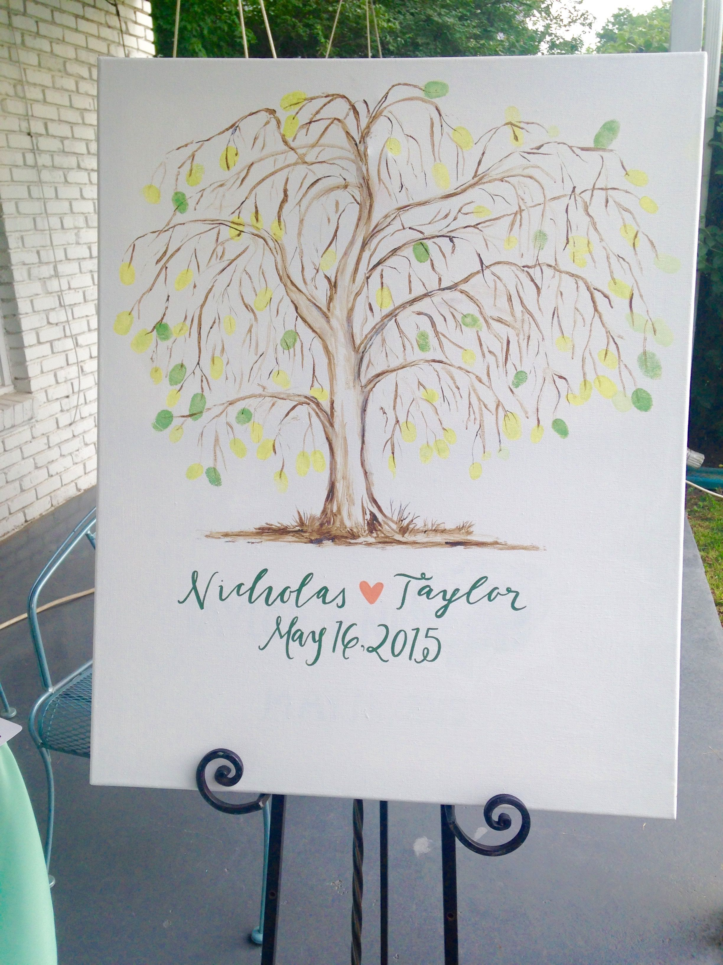 Thumbprint Guestbook Idea! #summerweddings #guestbook #outdoorweddings #sonyascottweddings