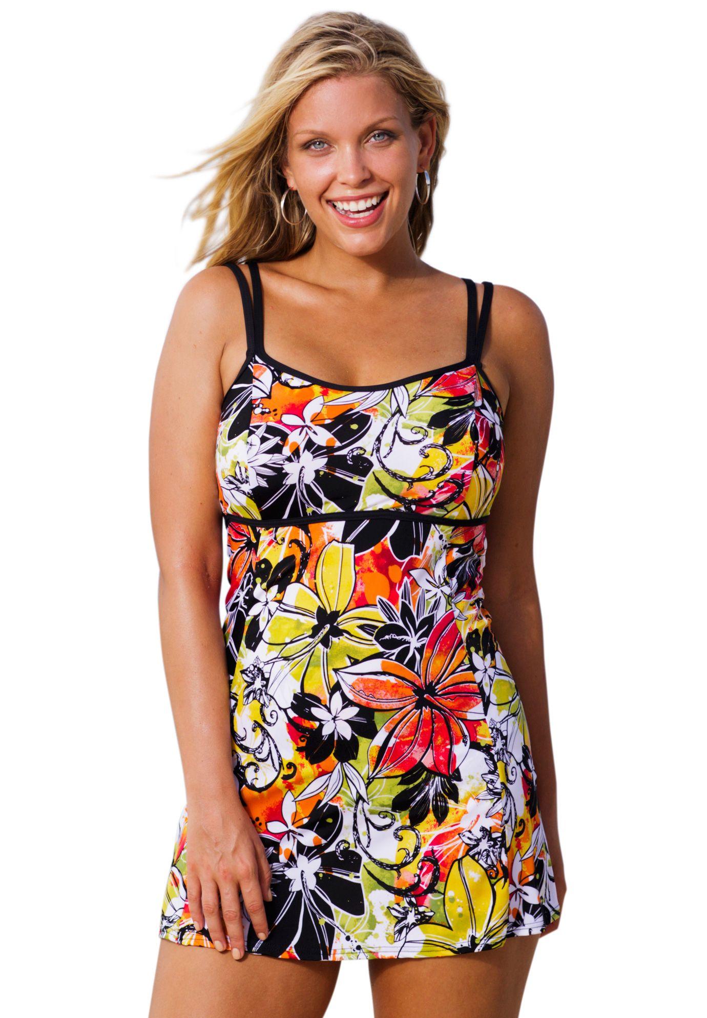 9b6d83dce2 Beach Belle Byron Bay Lingerie Swimdress | Plus Size New Swimwear | Woman  Within