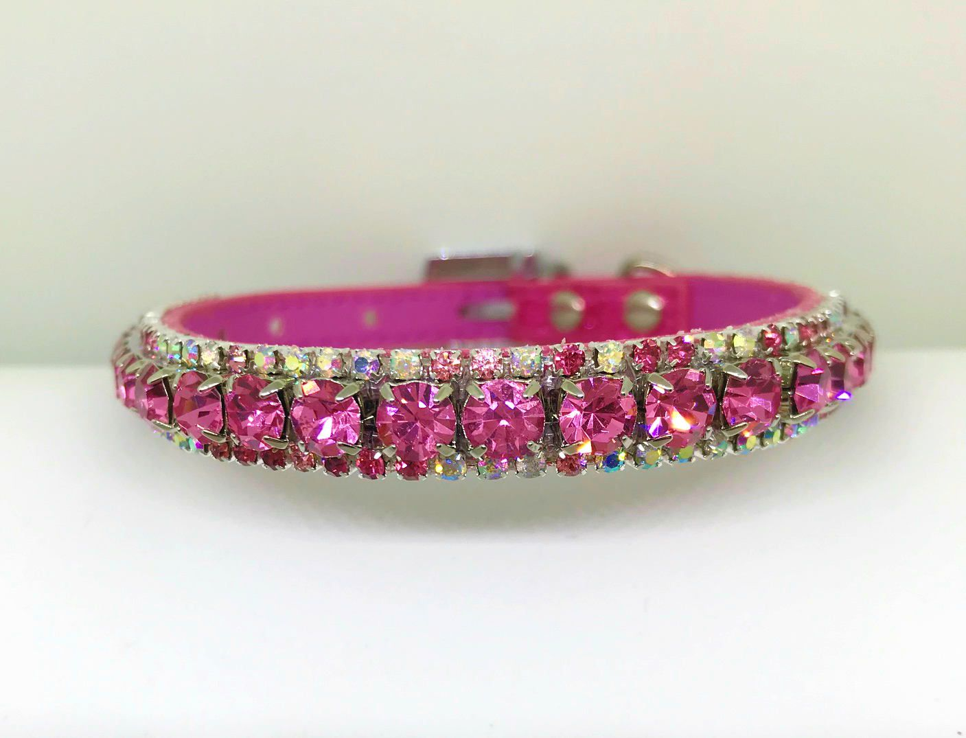 Magical Pink Clouds Crystal Ab Bling Rhinestone Pet Girl Dog Or