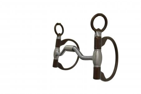 Metalab The Clinician Ported Hinged D Ring Snaffle Bit Snaffle Bit Hinges Stainless Steel Washers