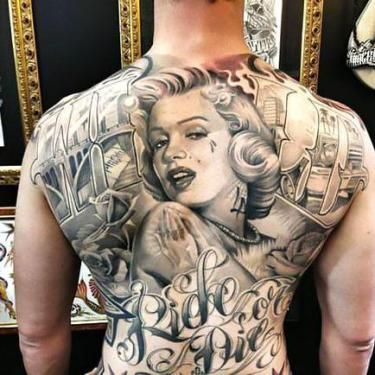 b9bb8d8359a88 20 Best Chicano Style Tattoo Ideas | Tattoos for Men | Marilyn ...