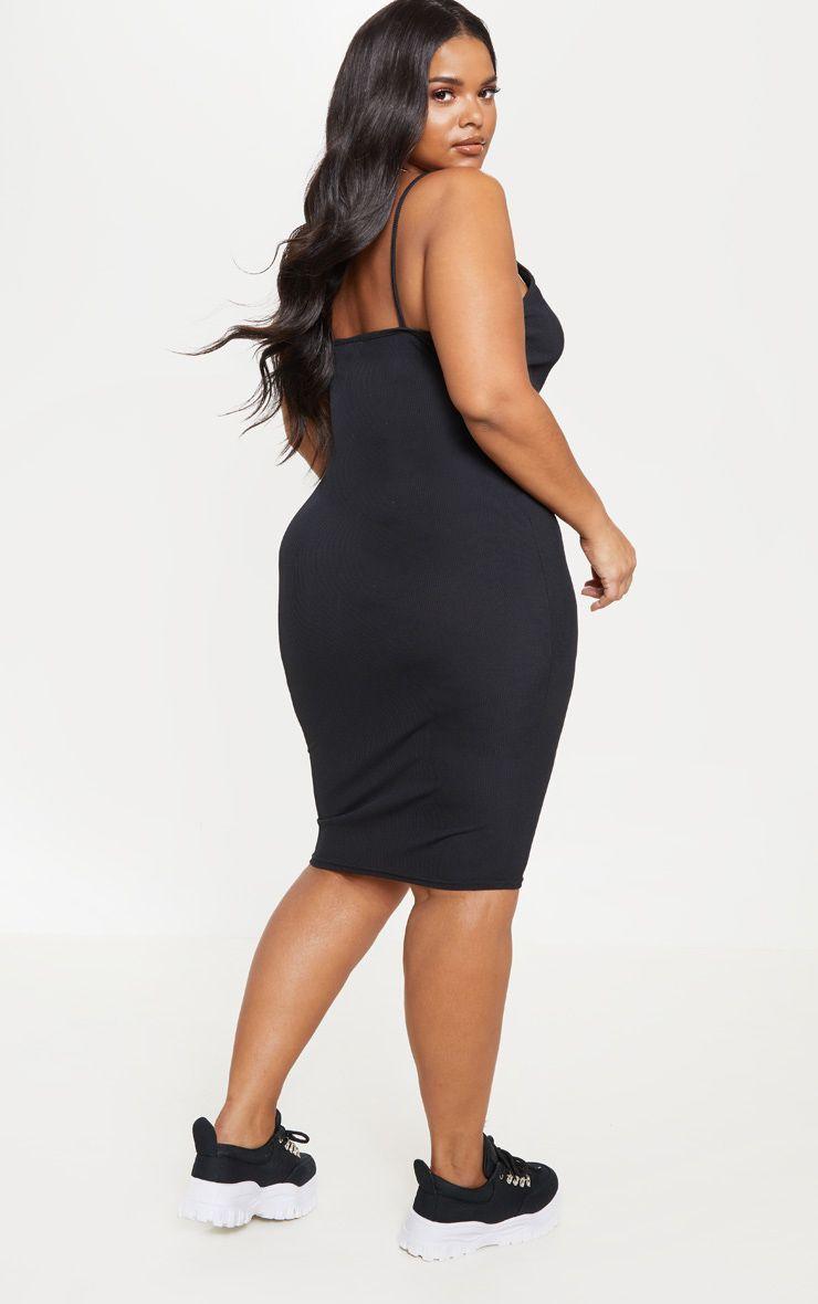 44+ Black ribbed plunge midi dress ideas in 2021