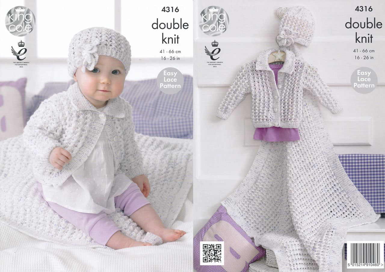 King cole double knitting pattern baby cardigan blanket flower king cole double knitting pattern baby cardigan blanket flower hat 4316 bankloansurffo Images