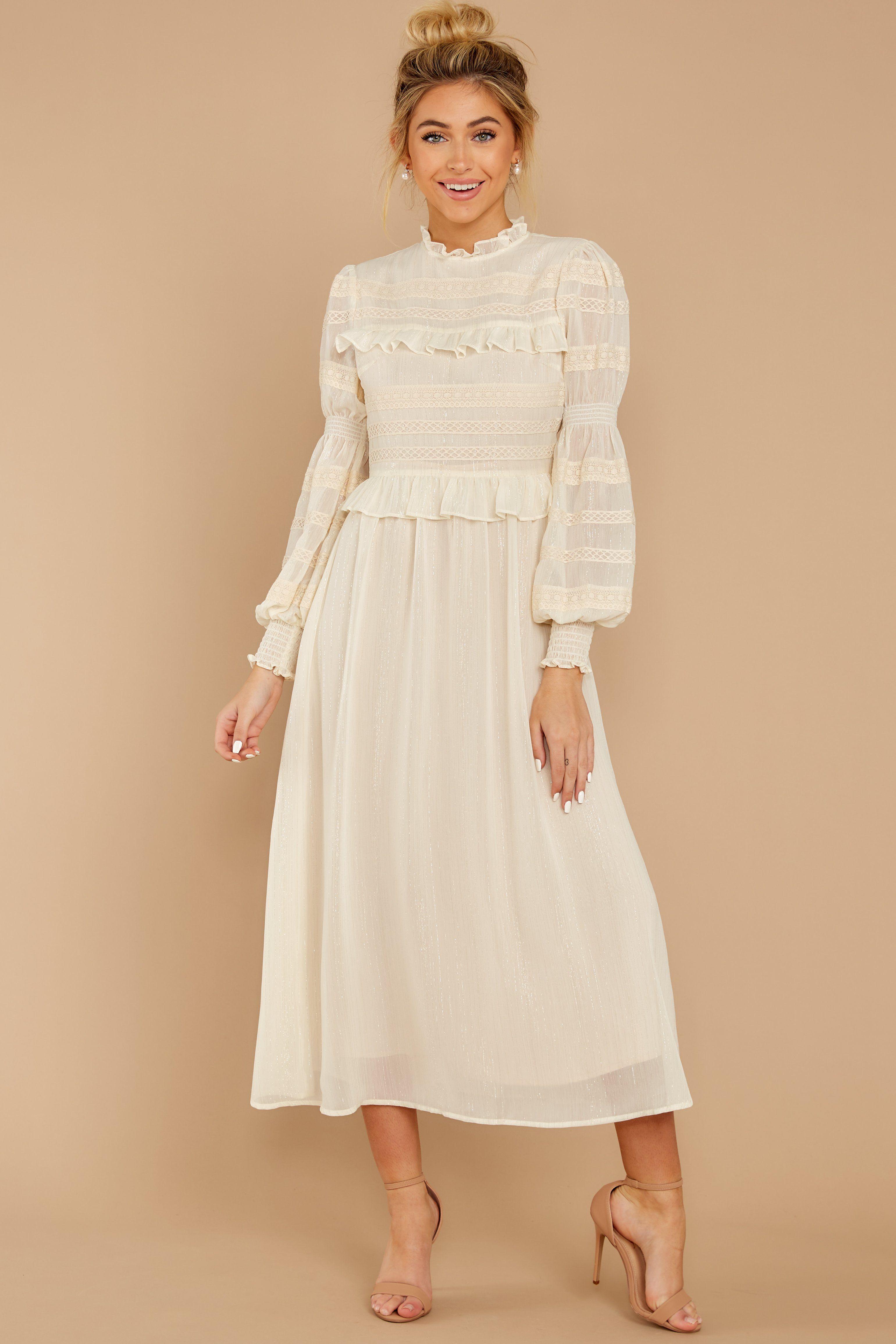 Simply Wishing For Ivory Midi Dress Dresses White Long Sleeve Dress Ivory Midi Dresses [ 4621 x 3081 Pixel ]