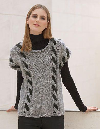 Heft Damen Concept 1 Herbst / Winter   8: Damen Pullover   Hellgrau / Dunkelgrau