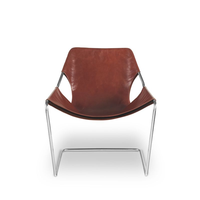 PAULISTANO Cuir Fauteuil OBJEKTO Silvera Décoration Française - Fauteuil cuir marron design