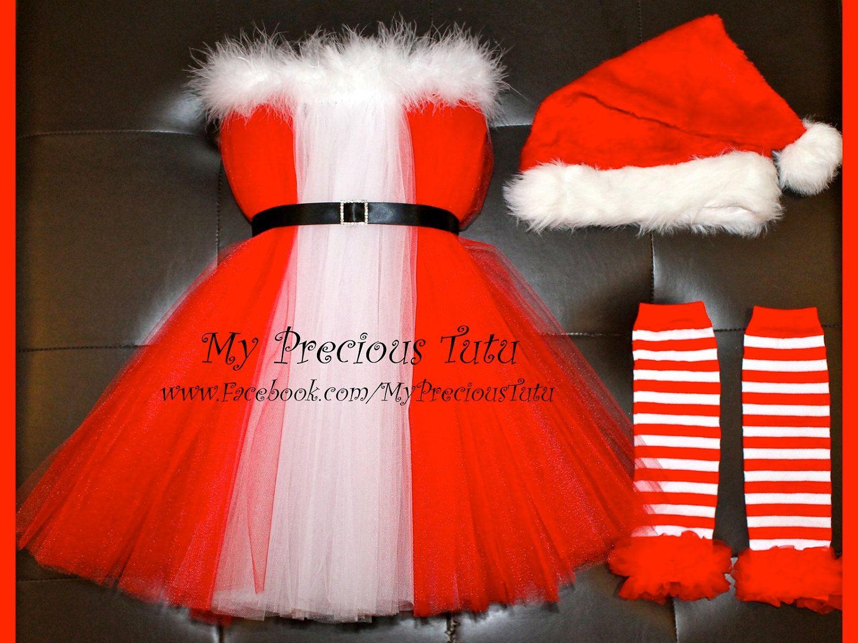 Christmas Dress Baby Girl 6 12 Months - Christmas santa dress tulle dress santa baby santa tutu mrs claus toddler tutu dress christmas dress girls christmas dress holiday