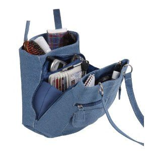 It would be great for knitters! Denim Jean Purse Tote Bag
