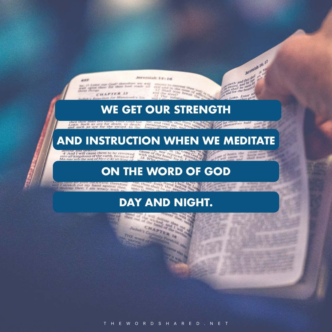 Meditate on the word with images word of god