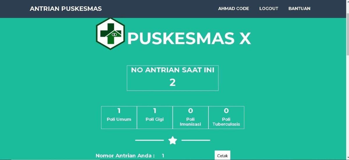 Source Code Aplikasi Antrian Puskesmas Berbasis Web Persandian Sistem Pakar Aplikasi