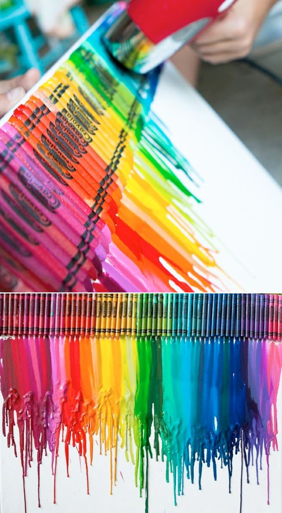 Melted Crayon Art Project Ideas I Tried Something Like This It Looks Good