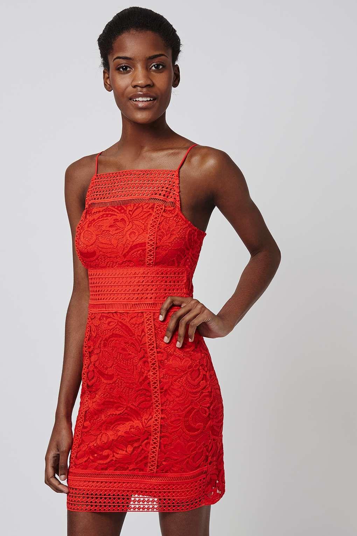 PETITE Floral Lace Bodycon Dress - Topshop | Bodycon Dresses | Pinterest