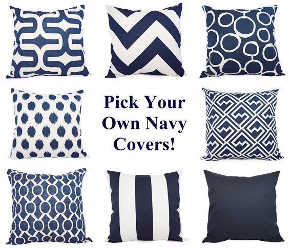Navy blue pillows on pinterest decorative throw pillows coral navy
